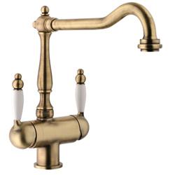 Nostalgic Sink Mixer Bronze Brush Finished With Drinking Water