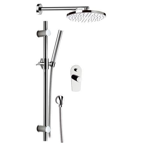 Built-in single lever mixer with showerhead and handshower shiny chrome<br>AN: FU614ZOCR