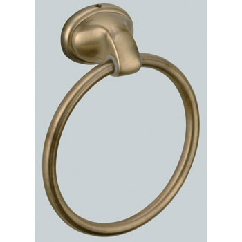 Nostalgic wall mounted towel holder ring bronze brush-finished<br>AN: REPA97063