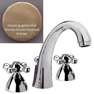 3-holes washbasin mixer bronze brushed-finished with pop-up waste,<br>AN: V5003L63