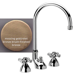 3-holes washbasin mixer bronze brushed-finished with pop-up waste,<br>AN: V510063