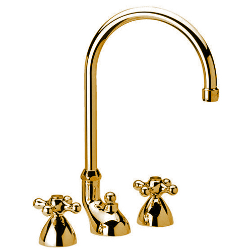 3-holes washbasin mixer gold with pop-up waste,<br>AN: V5100DO