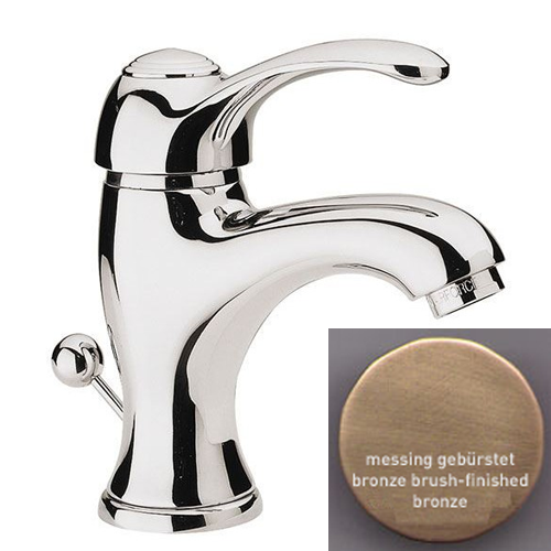 Single lever washbasin mixer bronze brushed-finished with pop-up waste,<br>AN: V60563