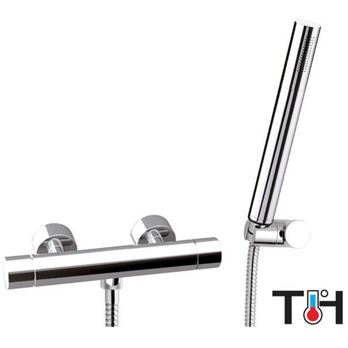 Mitigeur thermostatique douche avec set de douche chrome,<br> AN: ST20611A