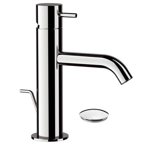 Single lever washbasin mixer shiny chrome with pop-up waste<br>AN: TK605CR