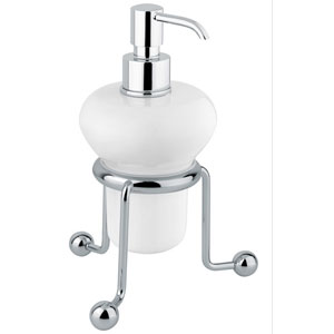 Nostalgic standing ceramic liquid soap dispenser chrome<br>AN: 19CRA241
