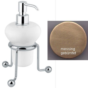 Nostalgic standing ceramic liquid soap dispenser bronze brush-finished<br>AN: 19ZZA241