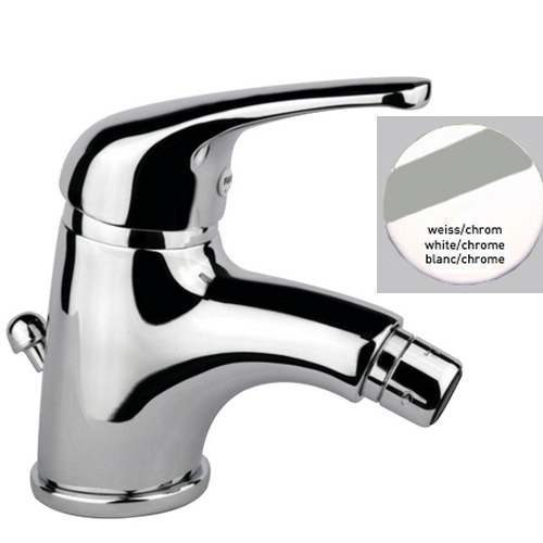 Single lever bidet mixer white / chrome with pop-up waste,<br>AN: 39BC3210