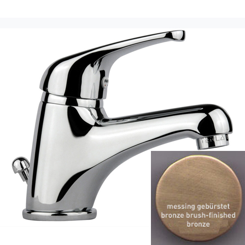 Single lever washbasin mixer bronze brush-finished with pop-up waste,<br>AN: 39ZZ2210