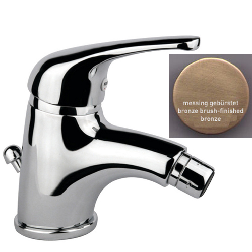 Single lever bidet mixer bronze brush-finished with pop-up waste,<br>AN: 39ZZ3210