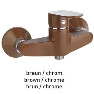 Mitigeur de douche brun / chrome, <br>AN: 81MX6511