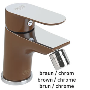 Single lever bidet mixer brown / chrome with pop-up waste, <br>AN: 81MX8130