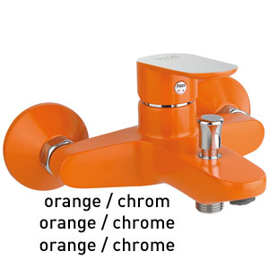 Mitigeur baignoire orange / chrome, <br>AN: 81OX8152