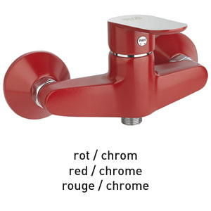 Single lever shower mixer red / chrome, <br>AN: 81RX6511