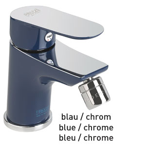 Single lever bidet mixer blue / chrome with pop-up waste, <br>AN: 81TX8130