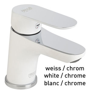 Single lever washbasin mixer white / chrome with pop-up waste, <br>AN: 81WX8120