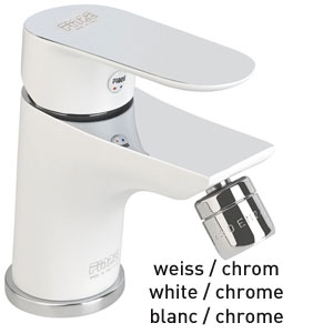 Single lever bidet mixer white / chrome with pop-up waste, <br>AN: 81WX8130