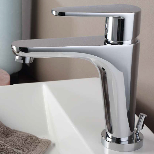 Single lever washbasin mixer chrome with pop-up waste, <br>AN: 88CR5515