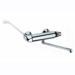 Thermostatic wall mounted single lever mixer chrome with long handle for clinic, gastronomy, hairdresser etc.,<br>AN: 33CR0930