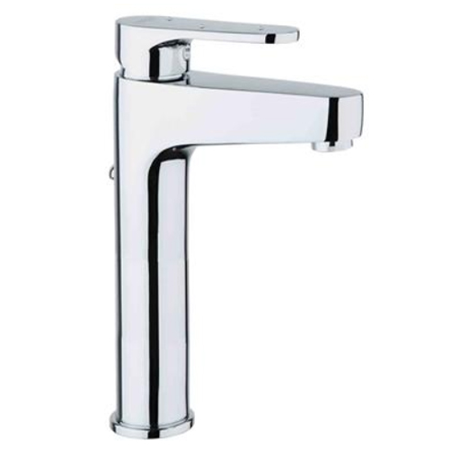 High single lever washbasin mixer chrome, handle with Swarovski Crystals and pop-up waste,<br>AN: 78CR6524
