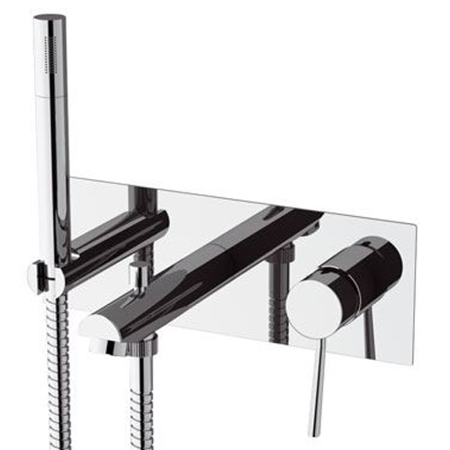 Built-in single lever bathtub mixer with shower set chrome,<br>AN: N04