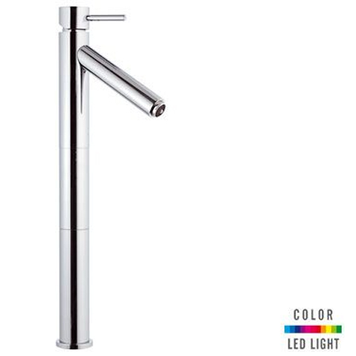 Extra high single lever washbasin mixer chrome with Color LED Light,<br>AN: NR11LXL2
