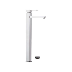 Extra high square single lever washbasin mixer with click-clack waste chrome, <br>AN: Q10LXXL
