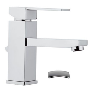 Square single lever washbasin mixer with pop-up waste chrome, <br>AN: Q10