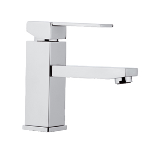 Square single lever washbasin mixer chrome, <br>AN: Q11
