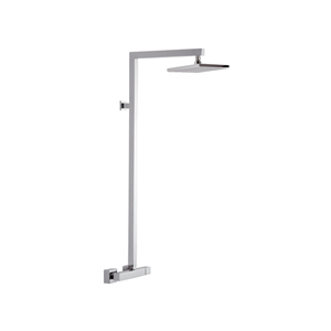 Square single lever shower mixer with column and showerhead chrome,<br> AN: Q36