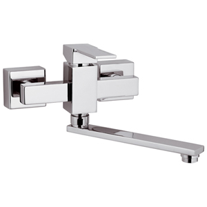 Square wall mounted single lever mixer chrome, <br>AN: Q41