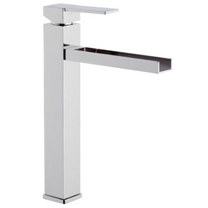 High square single lever washbasin mixer with waterfall spout chrome, <br>AN: QC11L