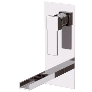 Built-in square single lever mixer with waterfall spout chrome, <br>AN: QC14
