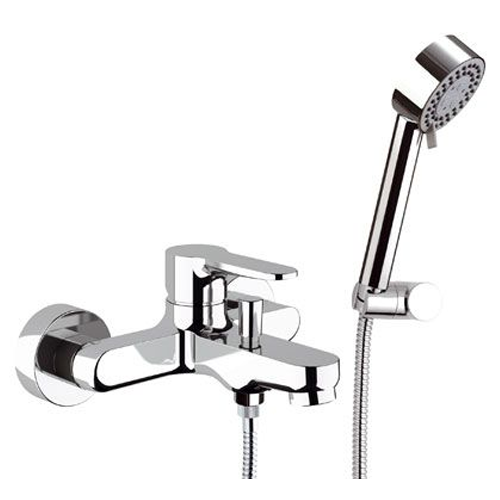 Single lever bathtub mixer chrome with shower set, <br>AN: W02