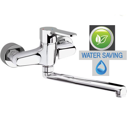 Wall mounted single lever water saving mixer chrome, <br>AN: WE41LT8