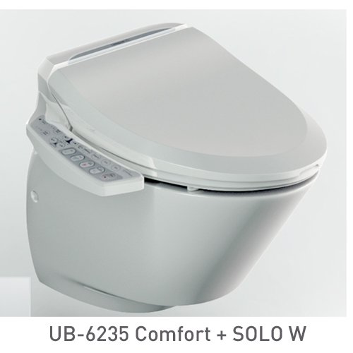 SET: Electronic toilet seat UB-6235 Comfort + Wall-hung WC SOLO W