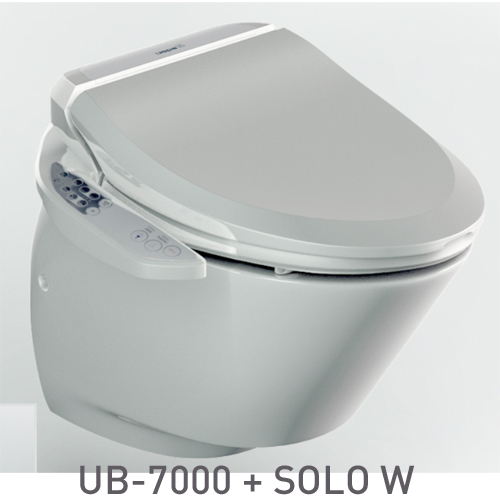 SET: Electronic toilet seat UB-7000 Comfort + Wall-hung WC SOLO W