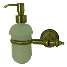 Nostalgic wall mounted liquid soap dispenser with holder bronze brush-finished,<br>AN: AM500201065