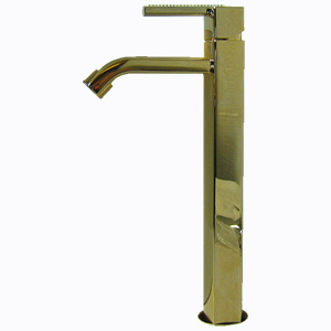Single lever washbasin mixer extra high gold 24 Karat handle with Swarovski Crystals and up and down pop-up waste,<br>AN: AS830401010