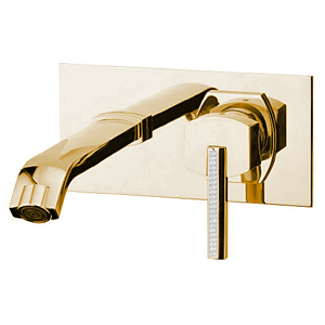 Built-in single lever mixer with spout gold 24 Karat, handle with Swarovski Crystals,<br>AN: AS830606010