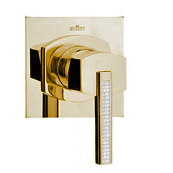 Single lever built-in mixer gold 24 Karat, handle with Swarovski Crystals,<br>AN: AS880101010