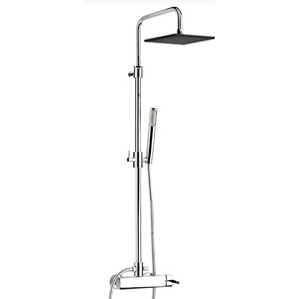Wellness single lever shower mixer with column, shower head and handshower chrome,<br>AN: AZ870110015