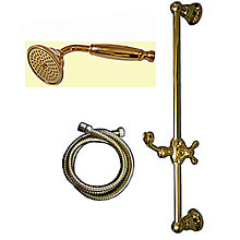 Nostalgic slidung rail shower set gold 24 Karat,<br>AN: AC0384010