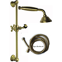 Nostalgic slidung rail shower set Surface bronze brush-finished,<br>AN: AC0384065