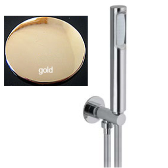 Shower set gold 24 Karat, hand shower + wall holder + hose,<br>AN: AC0982010