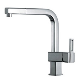 Single lever sink mixer chrome with pull-out spray and swivel spout,<br>AN: DA940301015