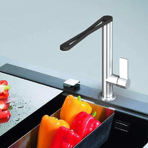 Single lever sink mixer black and stainless steel, <br>AN: EN920301441
