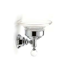 Wall mounted soap dish with holder chrome and original Swarovski Crystal,<br>AN: KA500101015