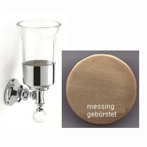 Wall mounted toothbrush tumbler with holder bronze brush-finished and original Swarovski Crystal,<br>AN: KA500301065