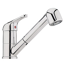 Single lever sink mixer chrome with pull-out spray and swivel spout, <br>AN: SX940101015
